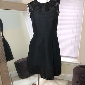 J. Crew Black Fit and Flare Cocktail Dress